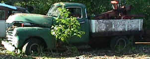 1949 Chevy Green Pickup For Sale