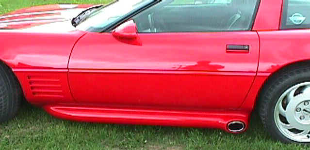 Power Effects on a 1991 Red Corvette